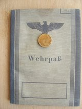 World War II GE Wehrpass in Stuttgart, GE