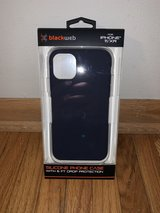 black web iPhone 11/XR silicone phone case in Joliet, Illinois