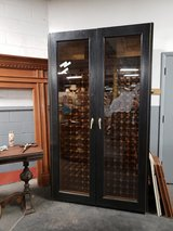 Vinotemp custom refrigerated wine cabinet in Naperville, Illinois