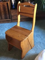 Wooden Chair (Turns Into) Step Ladder in Travis AFB, California