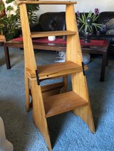 Wooden Step Ladder (converts into chair) in Travis AFB, California