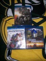 3- Blue Ray Trans Formers Movies in Naperville, Illinois