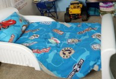 white toddler bed in Fort Campbell, Kentucky