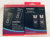 Yongnuo Wireless Flash Trigger (4qty) in Travis AFB, California