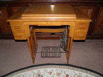 Vintage National Sewing Machine With Wood Cabinet(FOOT RUN NOT ELECTRIC) in Byron, Georgia