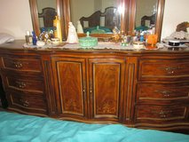 Drexel Heritage Dresser with tripple mirror, Nightstand and Headboard in Yucca Valley, California
