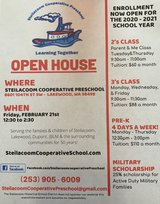 Preschool Open House Feb. 21st 12:30 to 2:30 pm in Fort Lewis, Washington