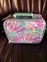 New Justice Pink and Teal Tie Dye with Shimmering Stars Lunch Box in Aurora, Illinois