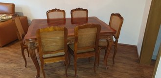 Antique dining room set with 6 chairs in Wiesbaden, GE