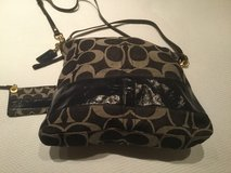 Coach blue jean purse with small coin purse in Ramstein, Germany
