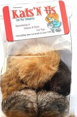 Jumbo size rabbit fur pom poms (5 pack) - BRAND NEW! in Naperville, Illinois
