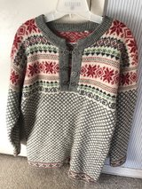 Norwegian New Wool Sweater with Pewter Clasps in Fairfield, California