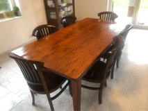solid wood table w/6 chairs in Ramstein, Germany
