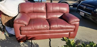 Lazy boy leather love seat in Travis AFB, California