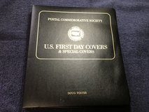 Postal Commemorative Society Binder with First Day of Issue Stamps in Houston, Texas