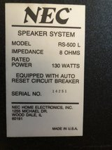NEC Audio/Video Receiver and speakers in Naperville, Illinois