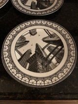"""4 New """"Metropolis"""" Art Deco Dinner Plates by Slice of Life 222 Fifth in Bolingbrook, Illinois"""