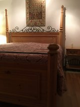 Beautiful and well made Pulaski King Pine Bedroom Set in Ramstein, Germany