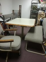 Kitchen table with 2 benches 2 chairs in Yorkville, Illinois
