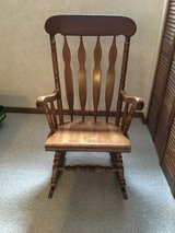 Solid oak rocking chair in Bolingbrook, Illinois