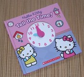 RARE Hello Kitty Tell the Time Clock Book Hard Cover in Yorkville, Illinois
