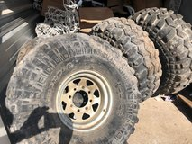 USED 38.5x14.50x15 SUPER SWAPPERS ON EIGHT HOLES WHEELS in Fort Leonard Wood, Missouri