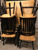 real wood farmhouse table and chairs in Naperville, Illinois