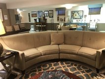 Curved sectional sofa in Chicago, Illinois