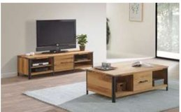 United Furniture - Hamburg TV Stand (65in wide) + Coffee Table + Delivery in Wiesbaden, GE