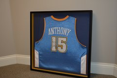Carmelo Anthony, Autographed Denver Nuggets, Framed & Mounted Jersey w/NBA Authorized neck tag. in Naperville, Illinois