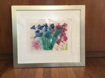 "ORIGINAL ""COLORS IN MOTION"" WATERCOLOR FRAMED—ARTIST SIGNED in Alamogordo, New Mexico"