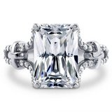 FINAL REDUCTION TODAY***7 CTTW Radiant Cut CZ Engagement Ring**SZ 9 in Conroe, Texas