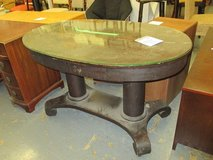 Dark Wood, Antique, Oval Table in Westmont, Illinois