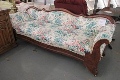 Antique Sofa with Floral Upholstery in Westmont, Illinois