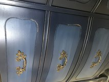 Navy Blue French Provincial buffet dresser entertainment center nightstand in Fort Leonard Wood, Missouri