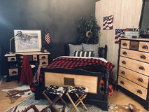 Antique Maple Covered Wagon Western Bedroom Furniture in Fort Leonard Wood, Missouri