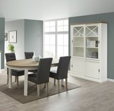 United Furniture - Hannover Dining set with China + Oval Table + 4 Chairs (St 1907) + Delivery in Stuttgart, GE