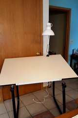 Drafting table w adjustable light in Sandwich, Illinois