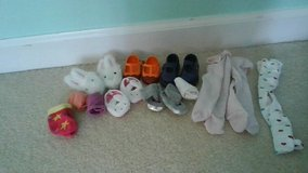 American Girl Doll and Our Generation Doll mix of shoes, slippers, socks and tights in Naperville, Illinois