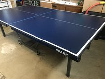 Spark Heavy Duty Folding Ping Pong Table Full Size w/ Supplies in Fairfield, California