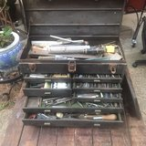 """Vintage Kennedy Machinist Toolbox with Tool and 4"""" Electric Grinder in The Woodlands, Texas"""