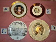 four vintage collectible plates in The Woodlands, Texas