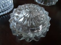 mid century modern crystal trinket boxes $15 each in Morris, Illinois