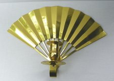 BRASS FAN Wall Mount CANDLE HOLDER ~ Vintage in Alamogordo, New Mexico