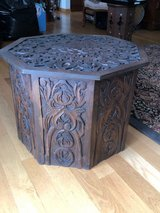 Hand Carved Octogon Table in Chicago, Illinois