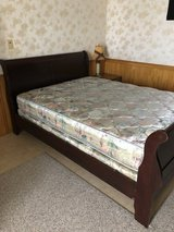Chariot queen bed, mattress, foot board, headboard,box spring. in Okinawa, Japan
