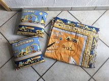 Construction theme quilt and throw pillows in Stuttgart, GE