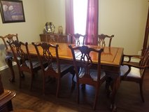 Dining room table in Fort Eustis, Virginia