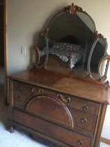Antique Dressers w/Mirror, Full Size Bed Frame and Night Stand in St. Charles, Illinois