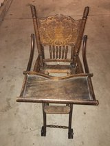 Antique Wooden High Chair/Stroller Combination in St. Charles, Illinois